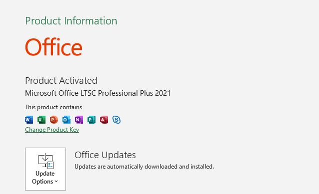 Microsoft Office 2021-2