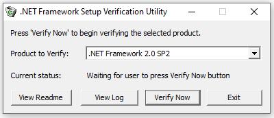NET Framework Setup Vertification Utility
